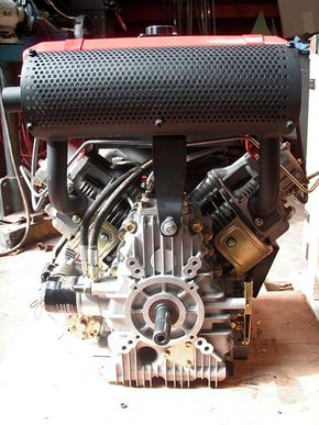 V-twin diesel engine